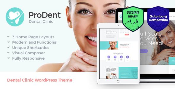 ProDent — Dental Clinic & Healthcare WordPress Theme