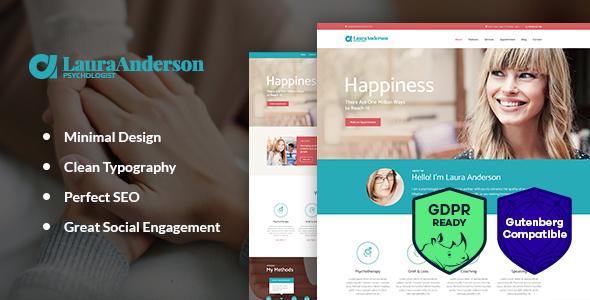 Psychologist — Therapy and Counseling WordPress Theme
