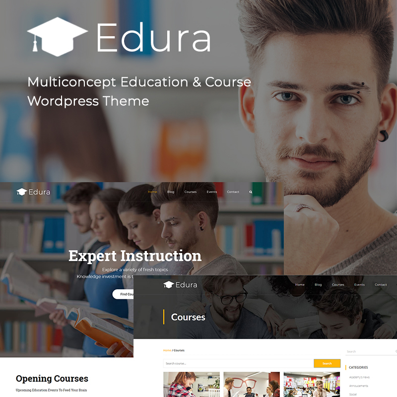 Edura — мультиконцептуальный WordPress шаблон