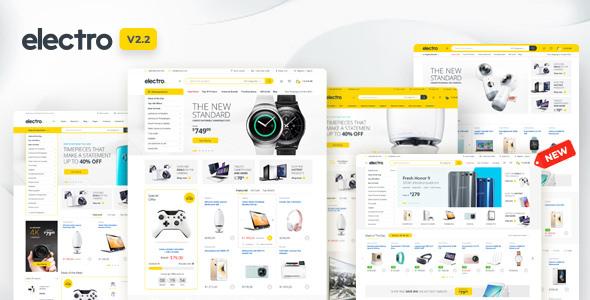 Electro — шаблон магазина электротоваров для Вордпресс