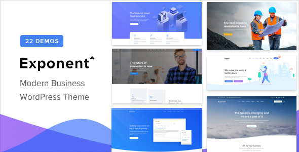 Exponent — Modern Multi-Purpose Business WordPress theme