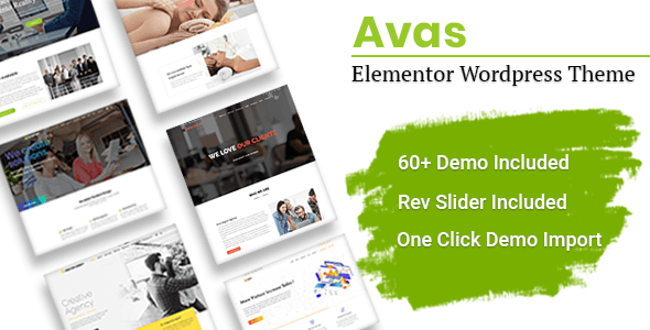 Avas — многоцелевая Вордпресс тема с поддержкой Элементора