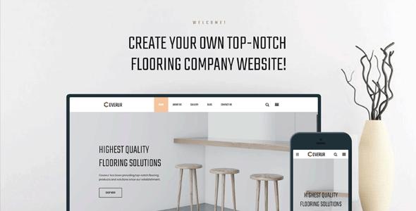 Coverur — Flooring Company Multipurpose Minimal Elementor