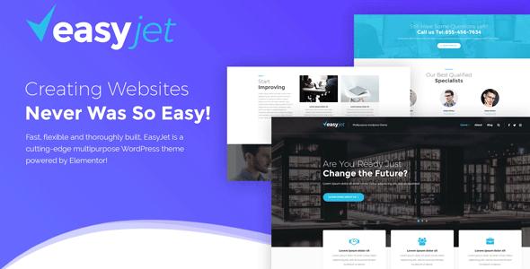 EasyJet — многоцелевой WordPress шаблон