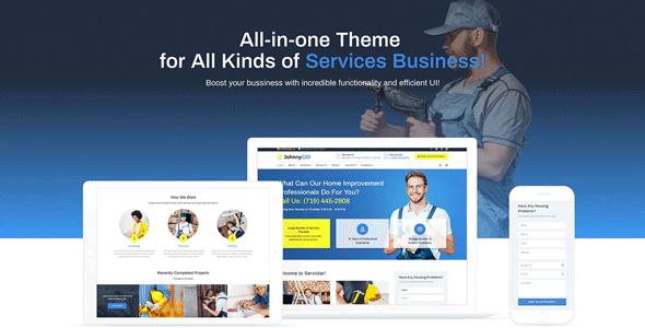 JohnnyGo — многоцелевой WordPress шаблон сайта домашнего ремонта