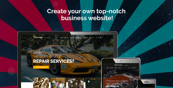 WordPress шаблон «Fair Wind — Car Repair Modern Elementor»