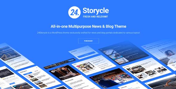 24.Storycle — Многоцелевой Elementor WordPress шаблон новостного сайта