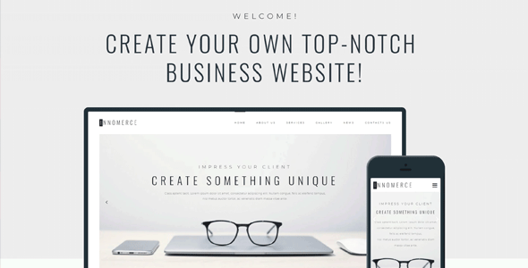 WordPress шаблон «Innomerce — Business Multipurpose Minimal Elementor»