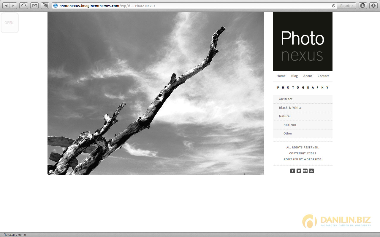 Шаблон WordPress для фотографов и фотосайтов