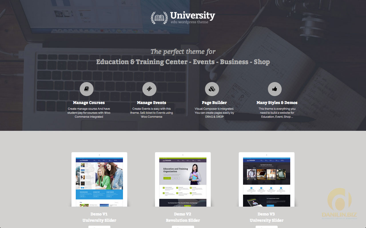 University — Education, Event and Course Theme