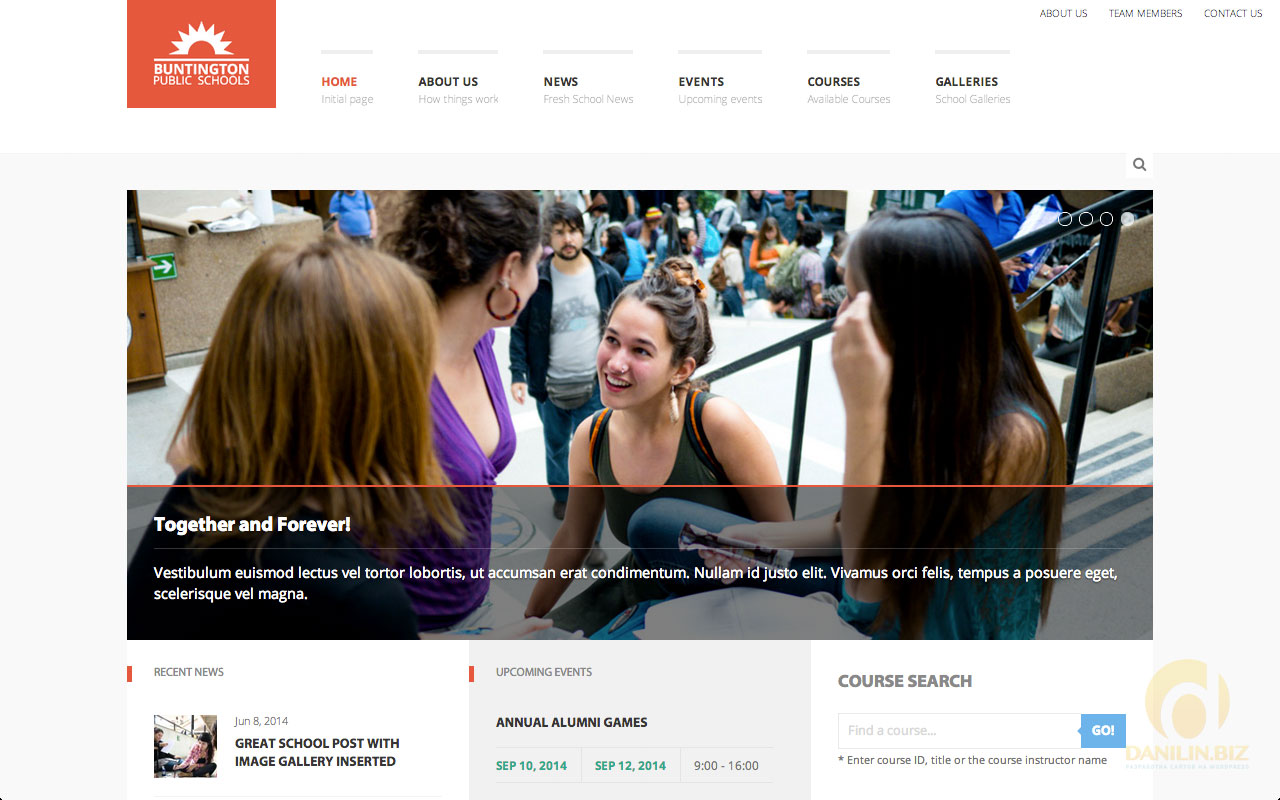 Buntington — Education WP Theme
