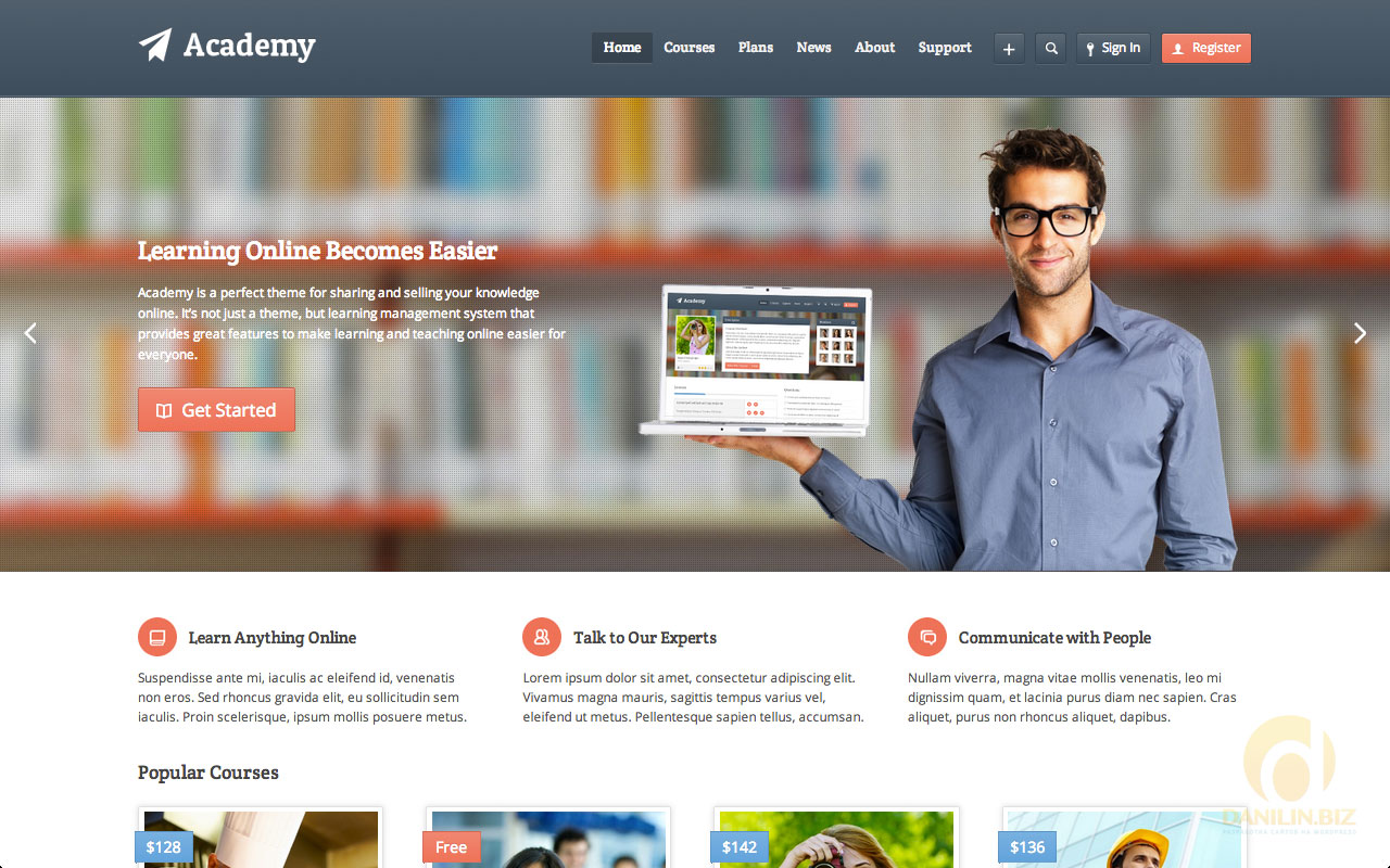 Academy — Learning Management Theme