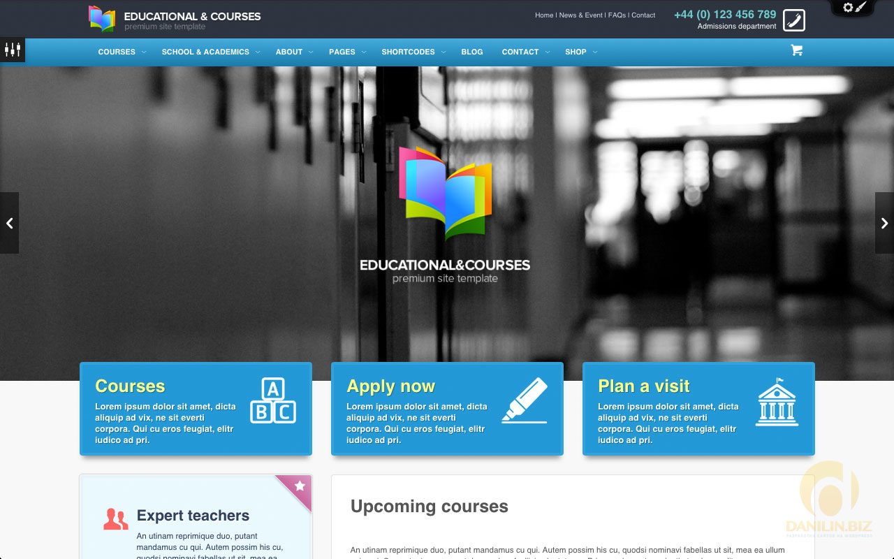 Educational, Courses, College WP Theme