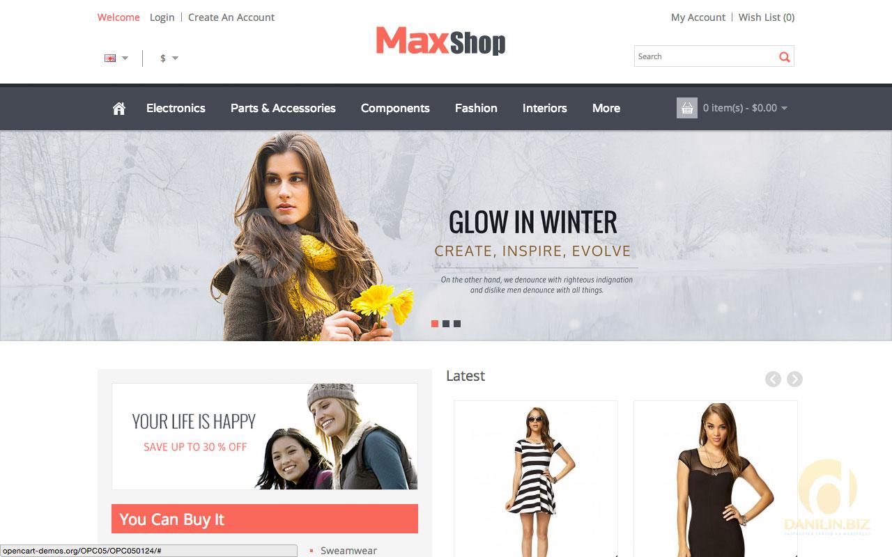 4b5d3bb764e0 30 лучших шаблонов интернет-магазинов одежды для OpenCart