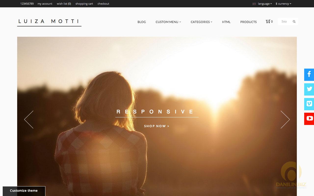 html шаблон для магазина одежды