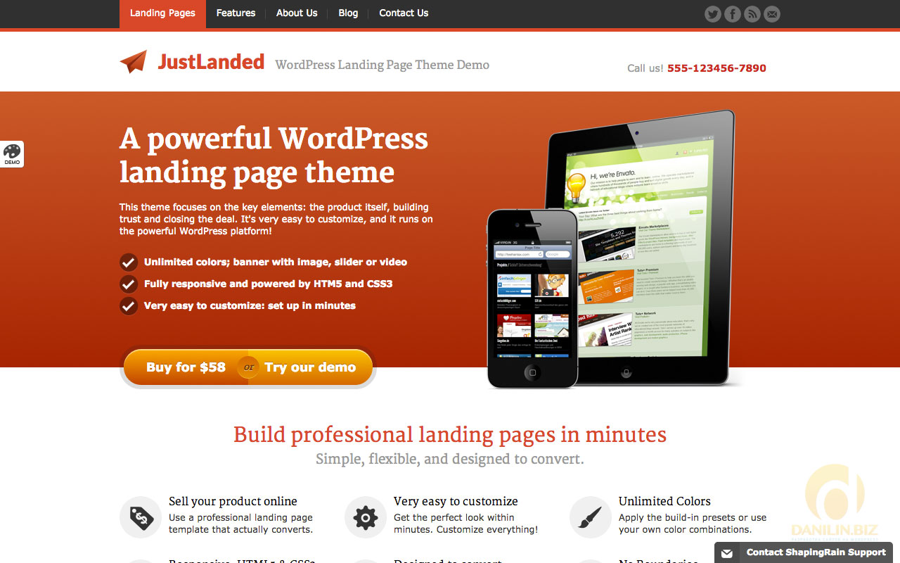 Продающий лендинг wordpress бесплатно