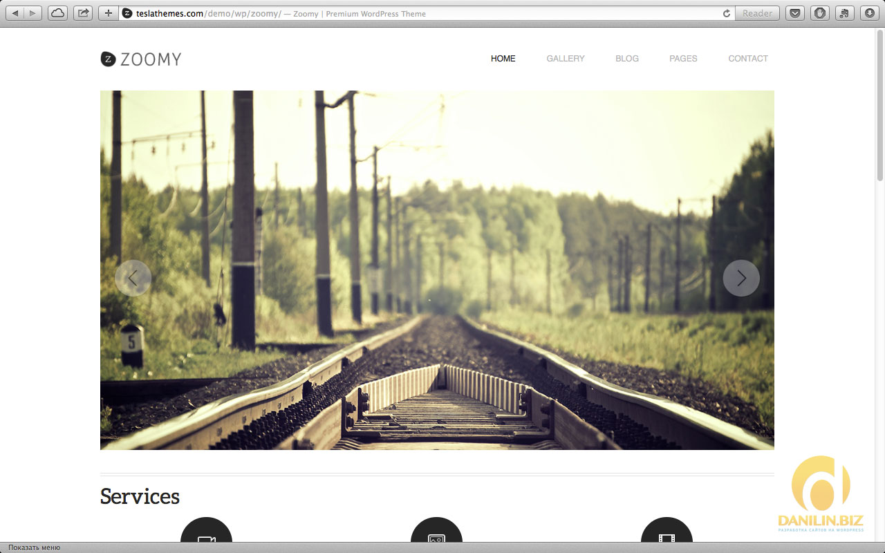 Zoomy — Professional Photography WordPress Theme