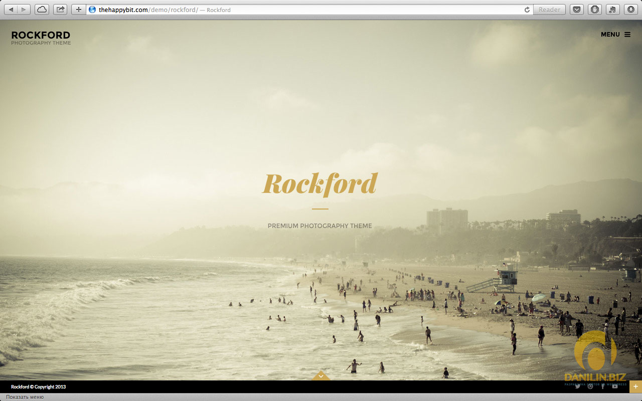 Rockford — Fullscreen Photography WordPress Theme