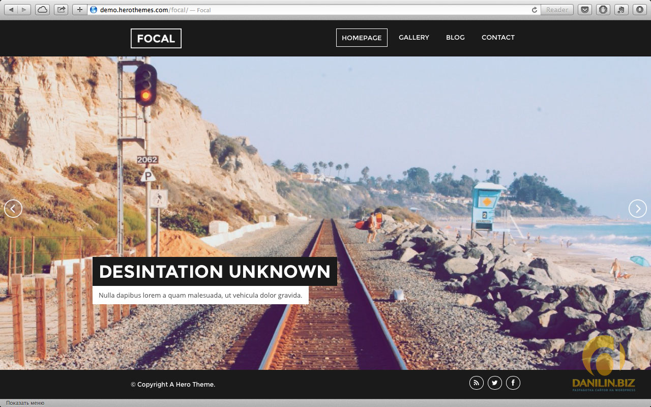 Focal — A Responsive Photography Theme