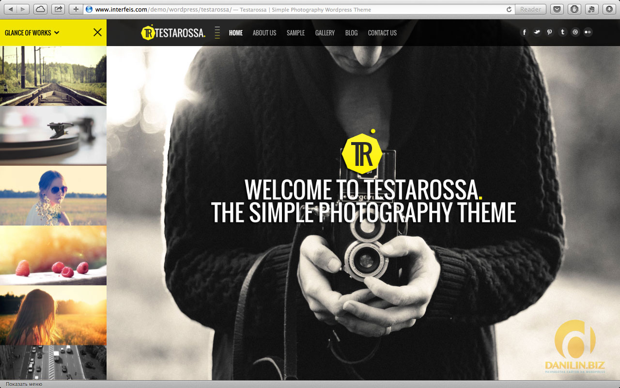 Testarossa — Simple Photography Ajax WP Theme