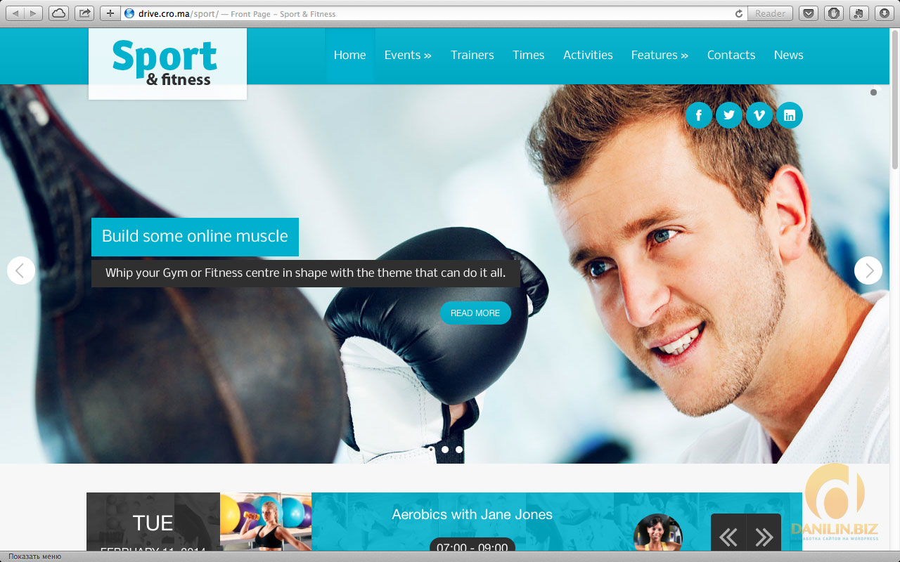 Sport & Fitness Theme for Gyms & Fitness clubs